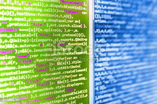 istock Computer source code programmer script developer. 511993262