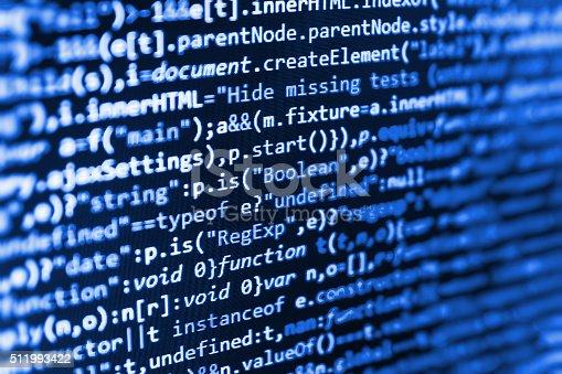 istock Computer source code programmer script developer. 511993422