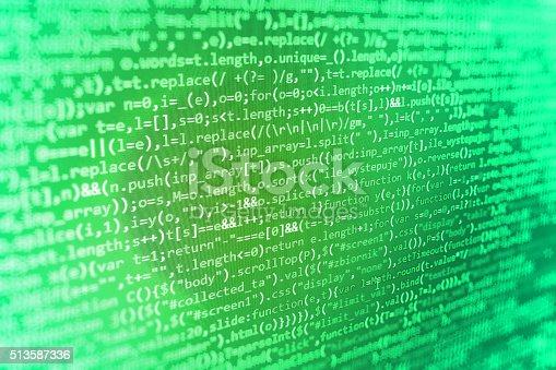 istock Computer source code programmer script developer. 513587336
