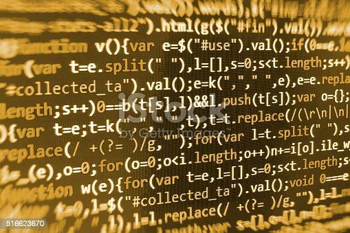 istock Computer source code programmer script developer. 516623670