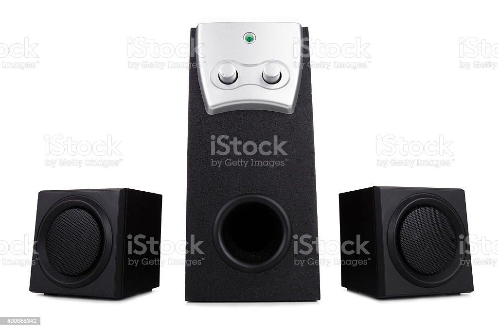 Computer speakers stock photo