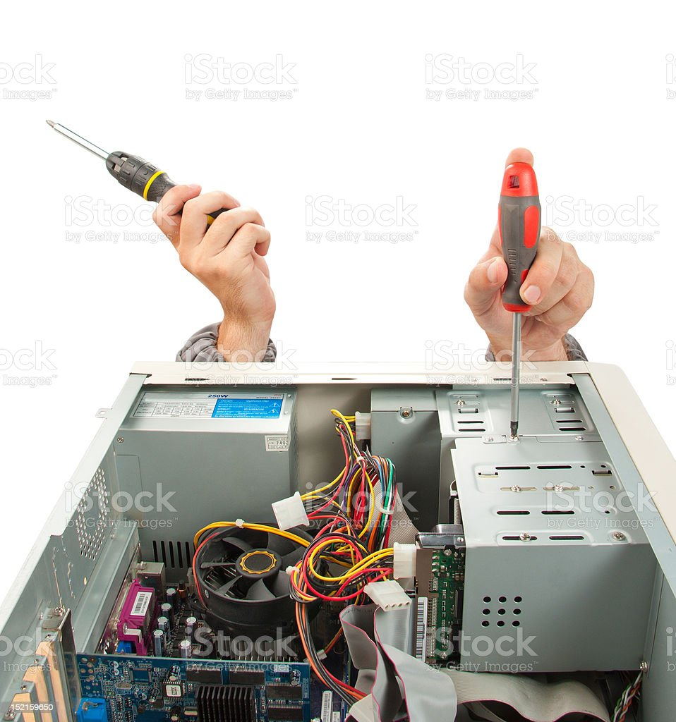 Computer support engineer royalty-free stock photo