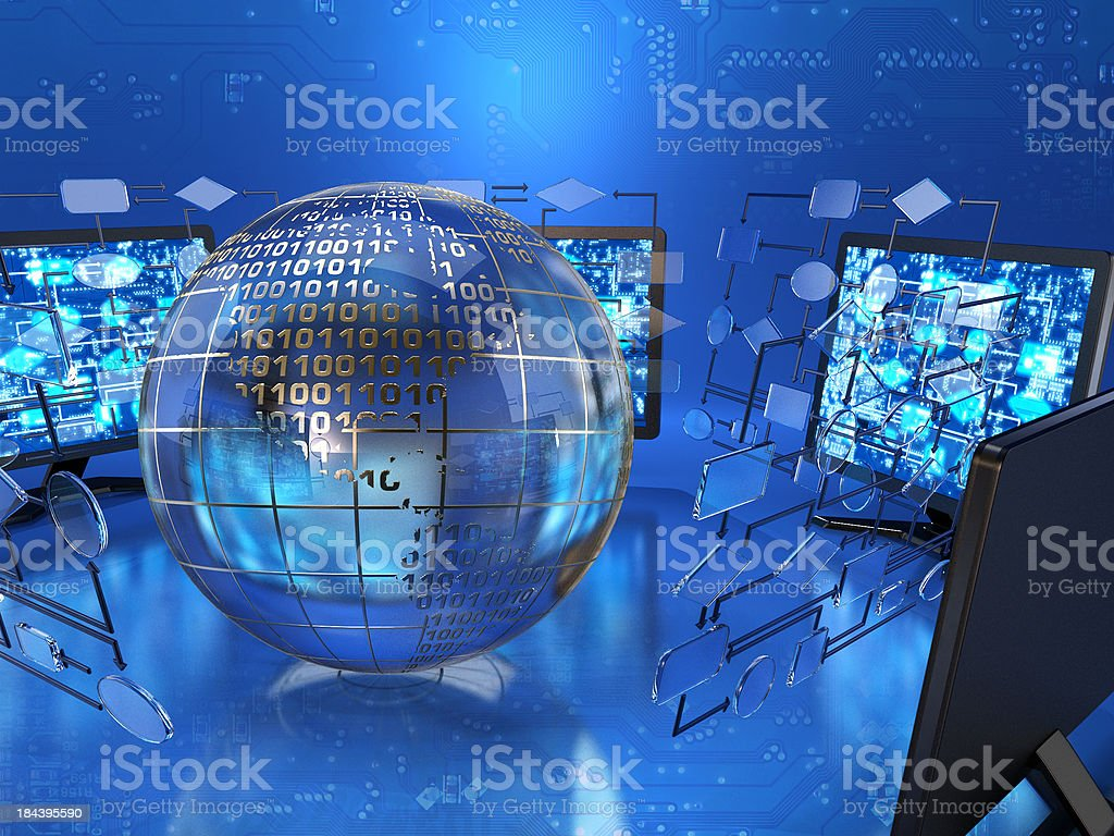 Computer technology royalty-free stock photo