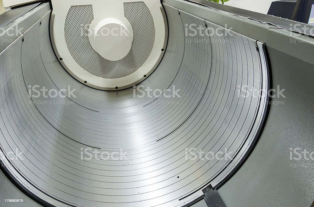 Computer to plate (CTP) drum, print preparation, wide shoot stock photo