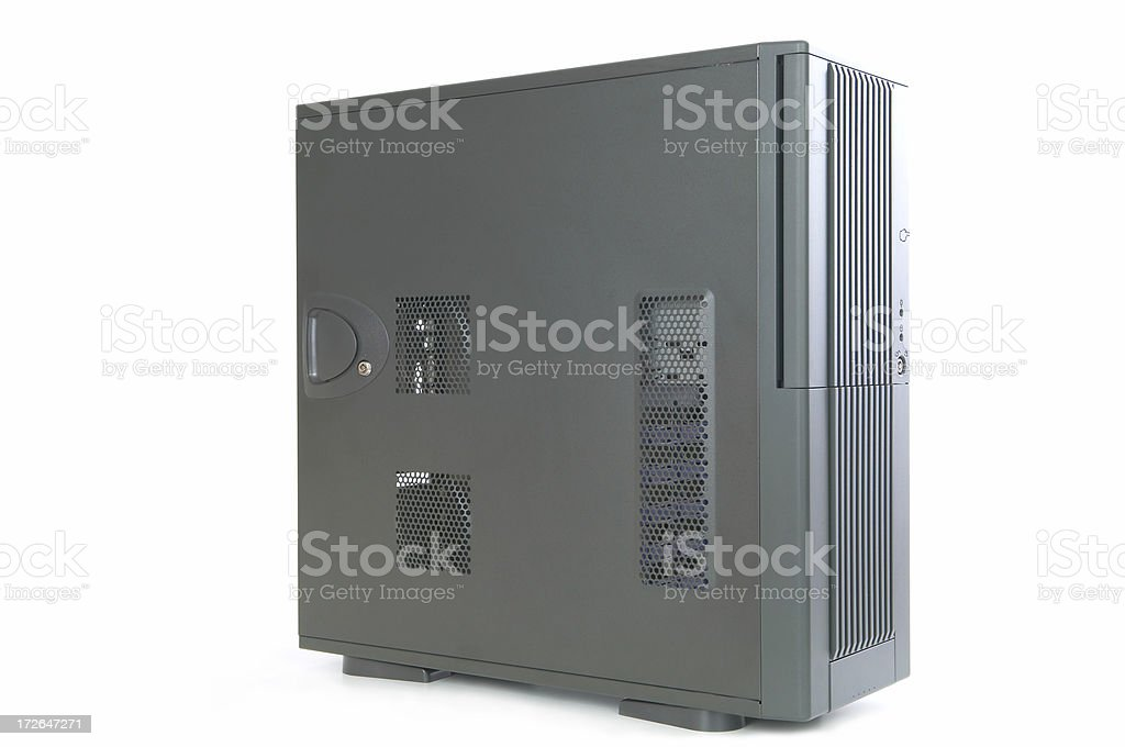 Computer tower case royalty-free stock photo