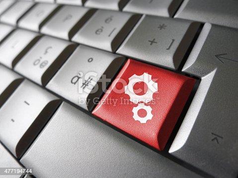 istock Computer User Website Settings Key 477194744