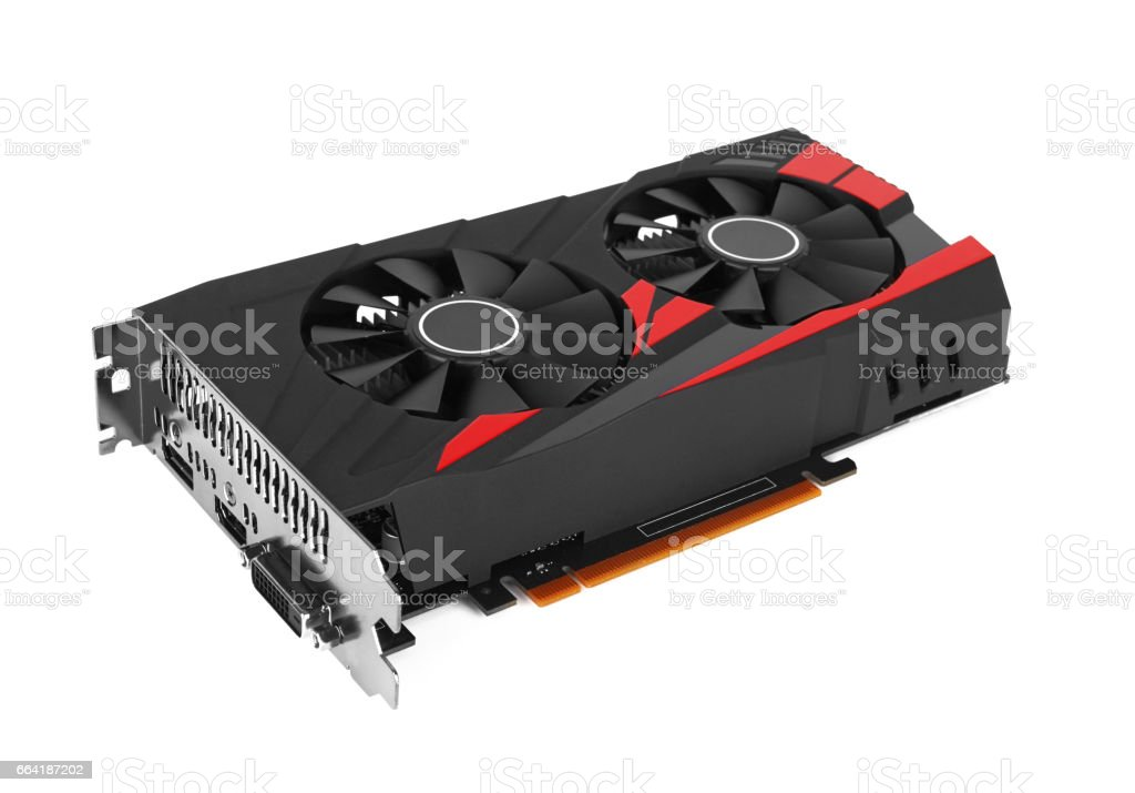 computer video card isolated stock photo