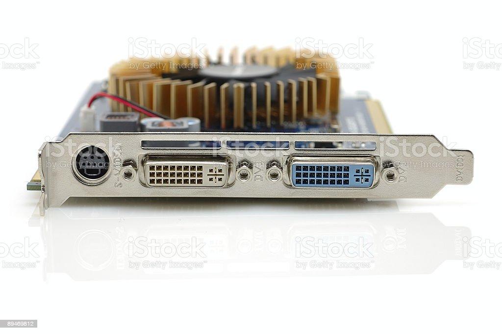Tarjeta de puerto de salida de vídeo de ordenador foto de stock libre de derechos