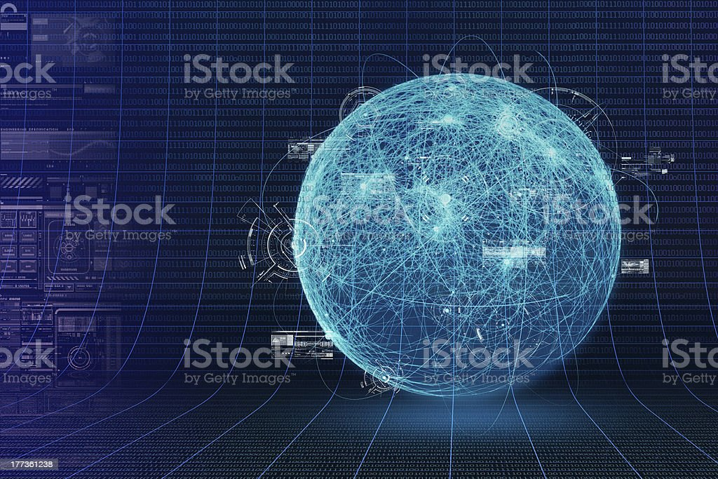 Computer Virus and Botnet Concept royalty-free stock photo