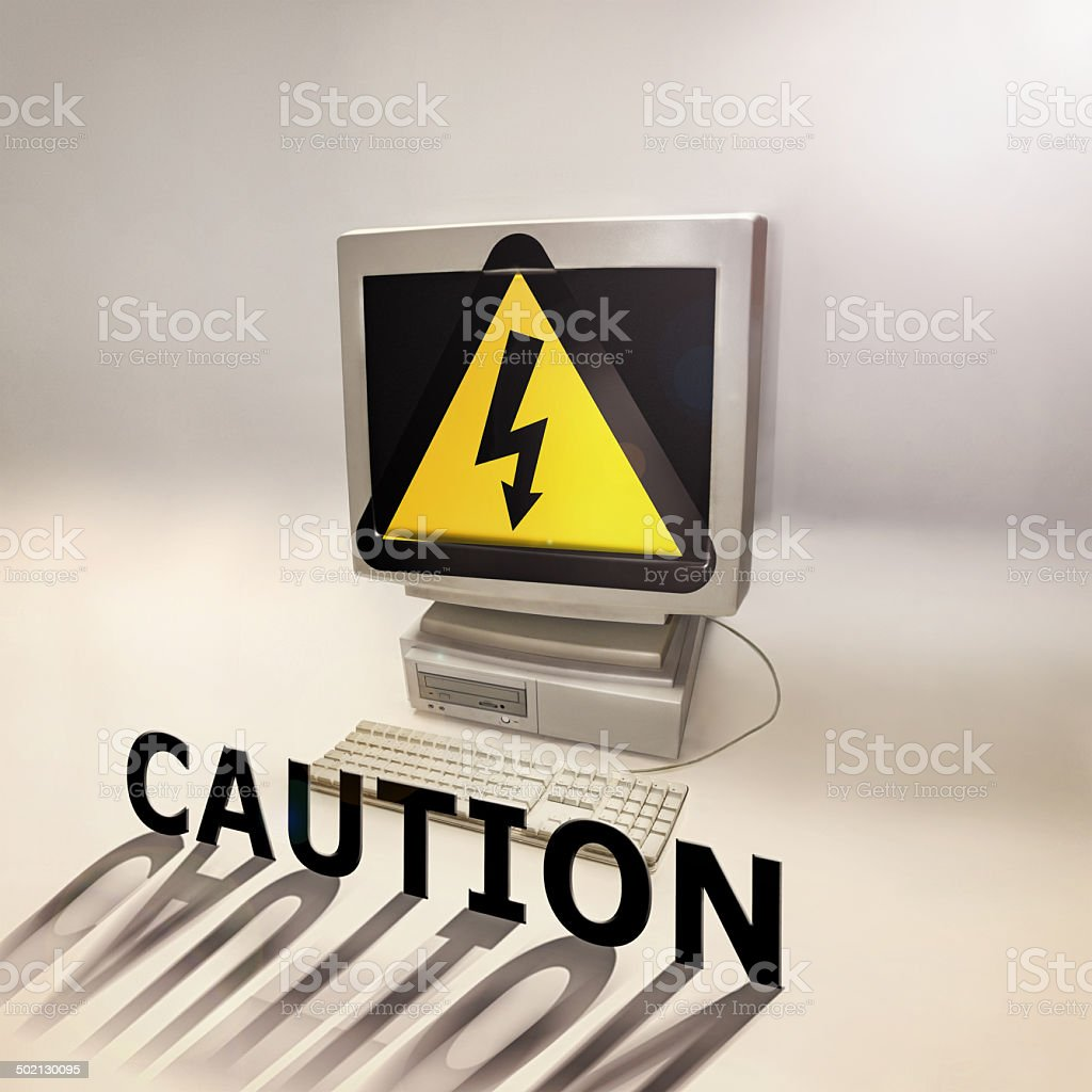 Computer virus' are no laughing matter royalty-free stock photo