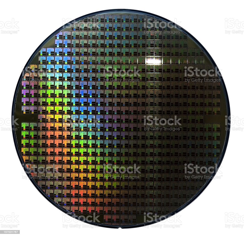 Computer wafer royalty-free stock photo