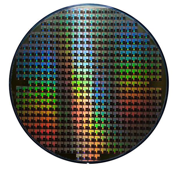 ウエハー虹色のパターンを表示 - 半導体 ストックフォトと画像