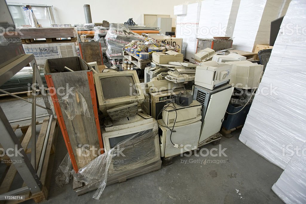 computer waste royalty-free stock photo