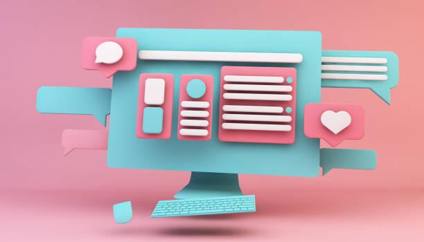 computer web design concept stock photo