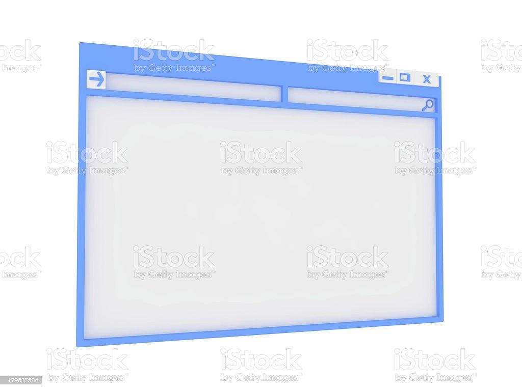 Computer window. royalty-free stock photo