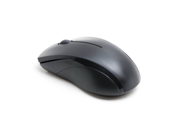 computer wireless mouse isolated on white background - computer mouse stock photos and pictures