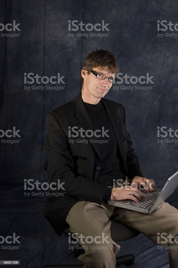 Computer Work royalty-free stock photo