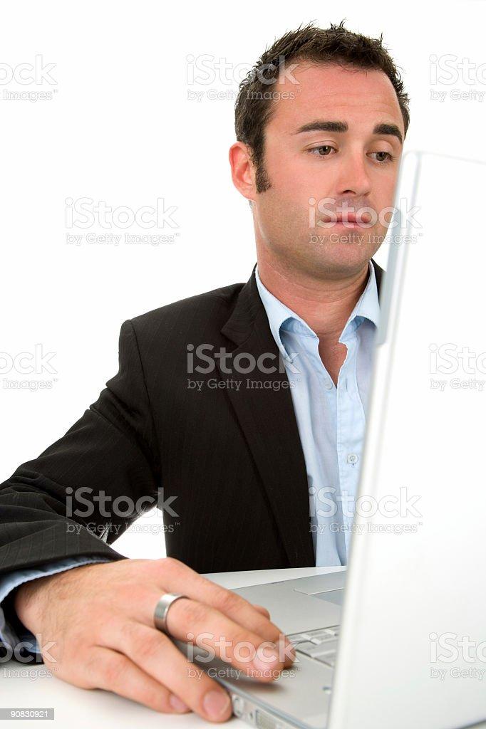 Computer Work stock photo