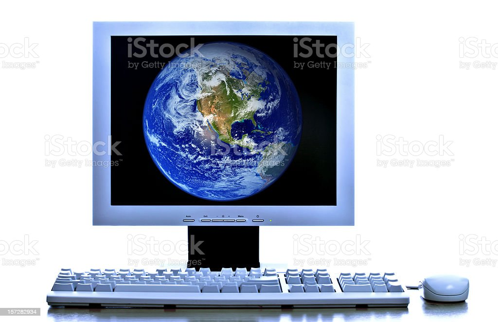 Computer world royalty-free stock photo