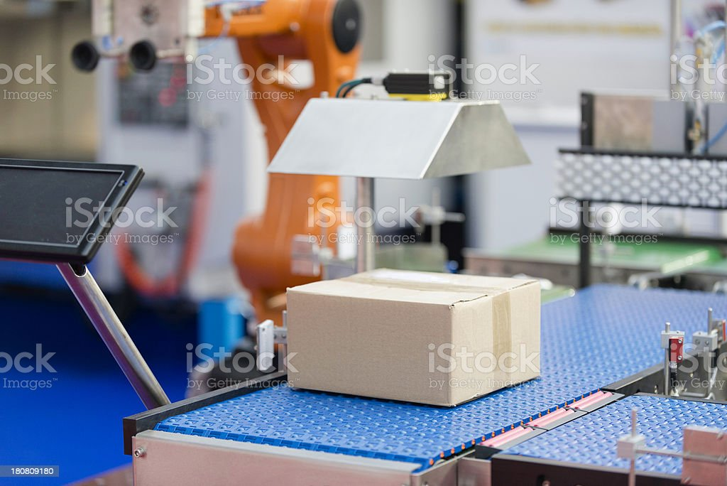 Computerized production line stock photo