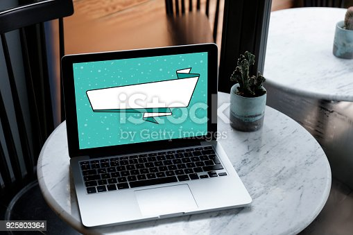899410700 istock photo Computer,laptop with blank banner 925803364