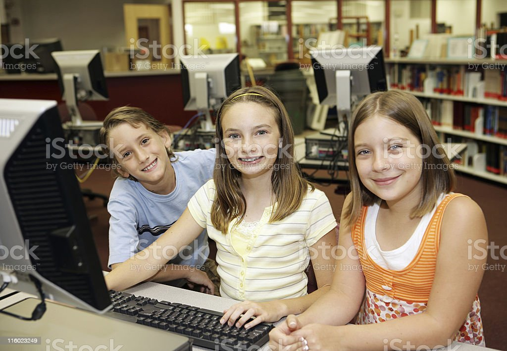 Computers in the Classroom royalty-free stock photo