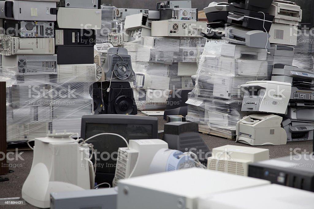 Computers printers stock photo