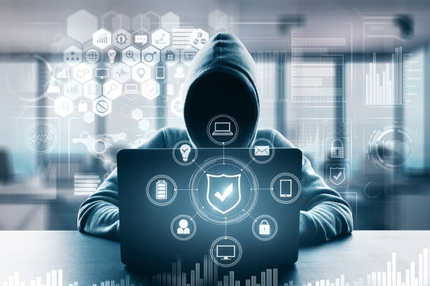 computing and malware concept - computer hacker stock pictures, royalty-free photos & images