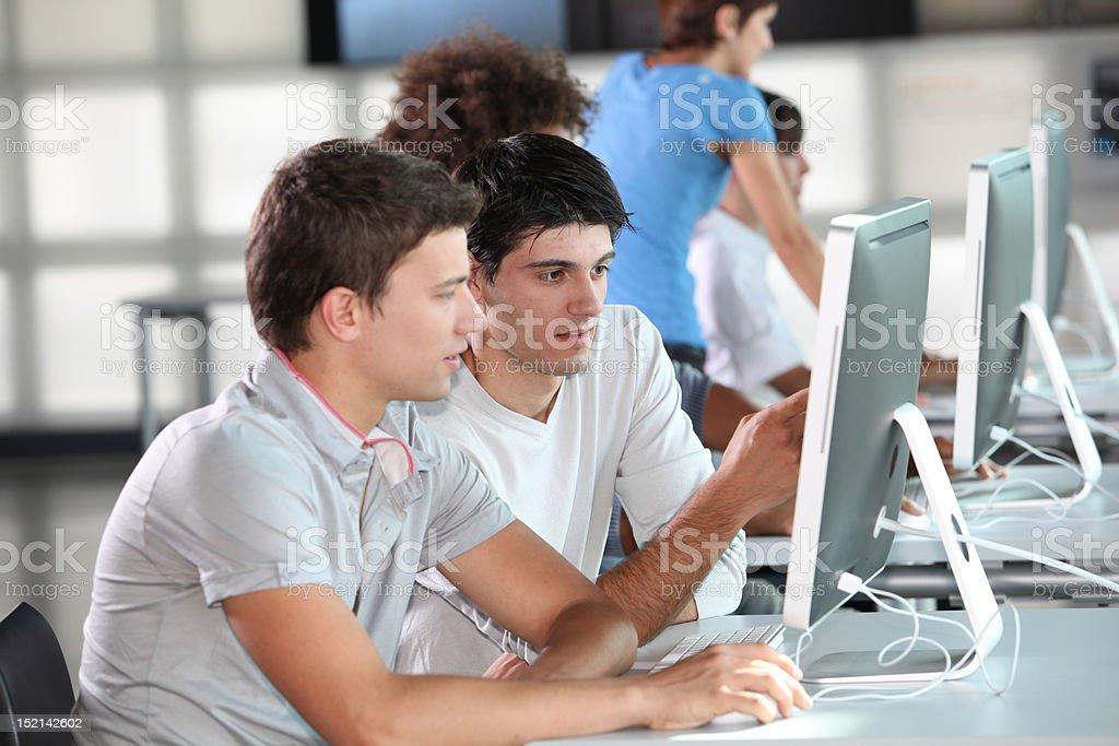 Computing business training royalty-free stock photo