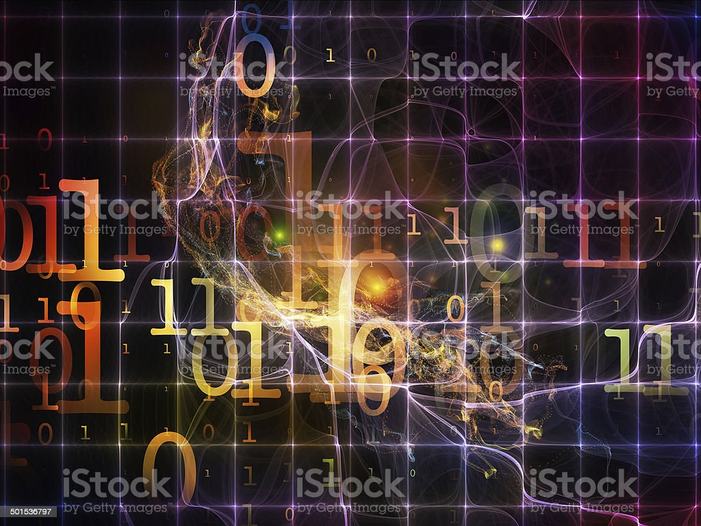 Computing Numbers stock photo