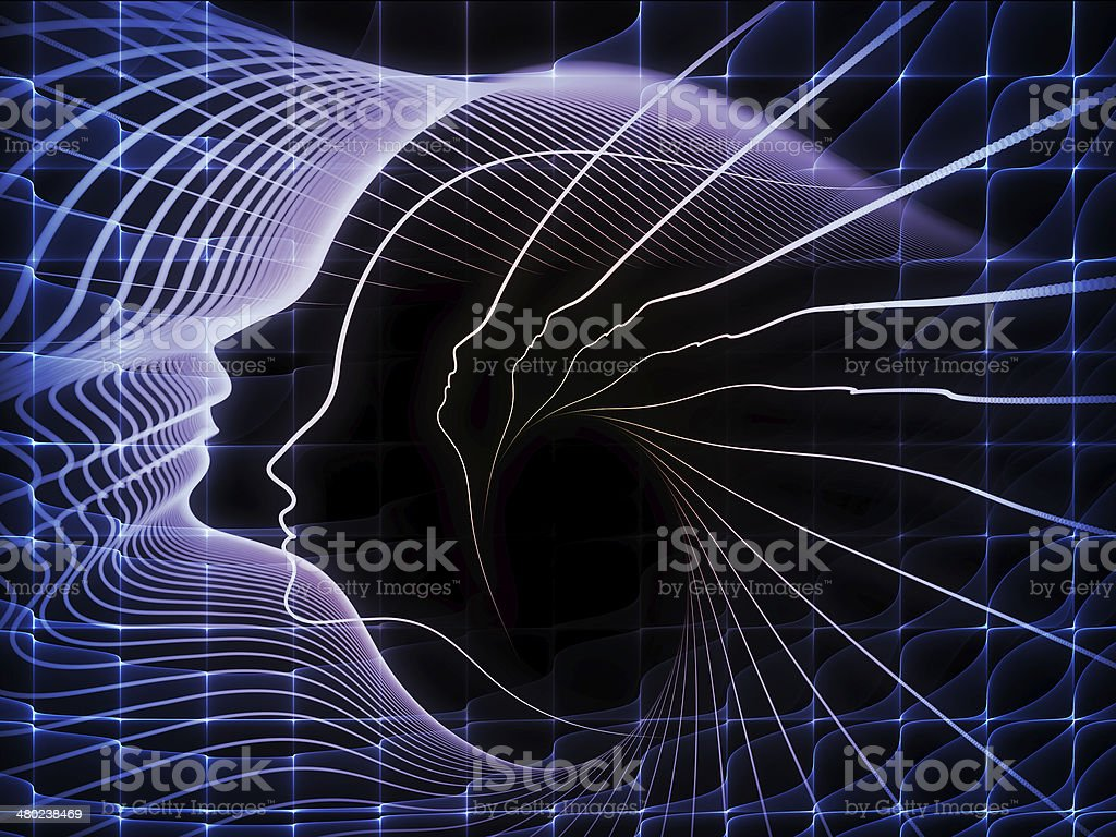 Computing Soul Geometry stock photo