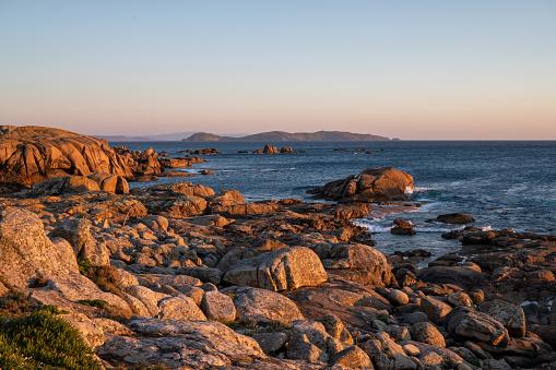 O Con Negro beach, San Vicente do Mar, Pontevedra, Galicia, Spain