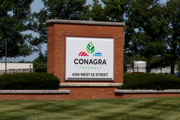 ConAgra Brands manufacturing plant. ConAgra makes over 60 brands of food including Chef Boyardee, Jiffy Pop and Slim Jim I stock photo