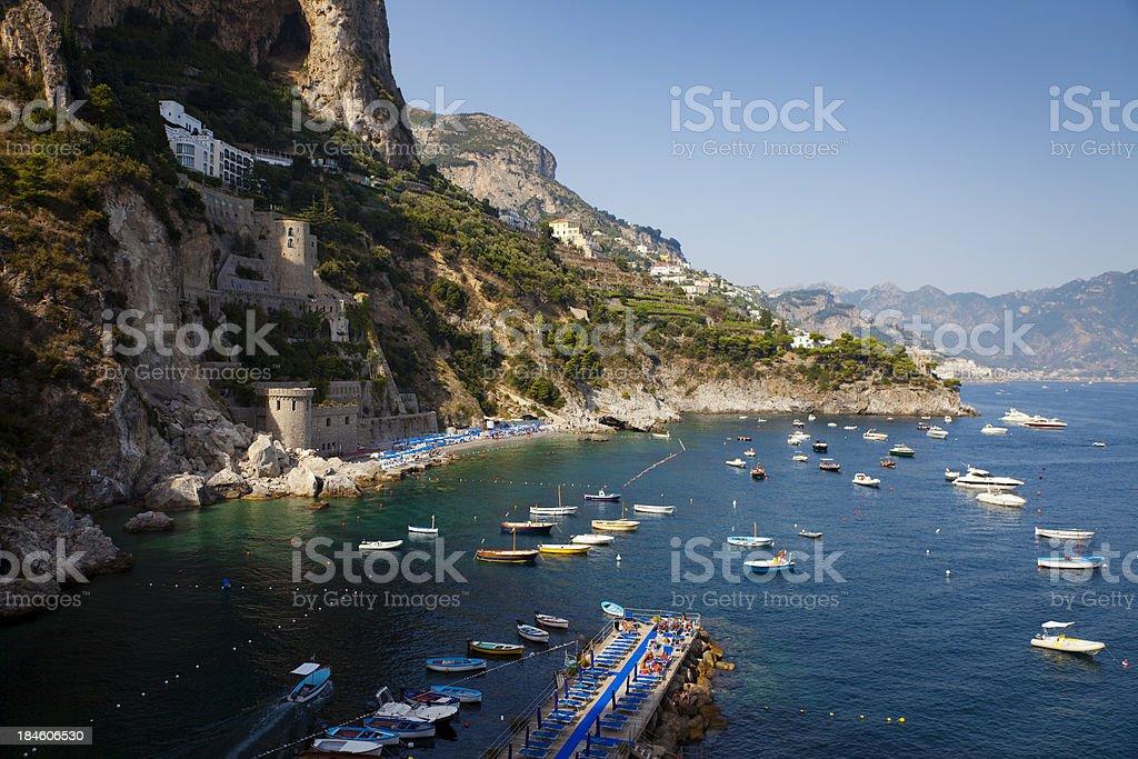 Conca Dei Marini Bay royalty-free stock photo