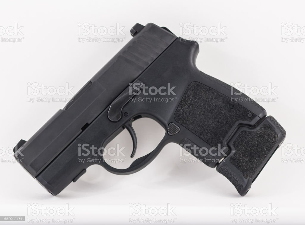 Conceal Carry Pistol Isolated on White royalty-free stock photo