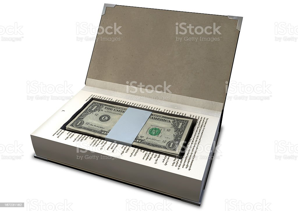 Concealed Cash In A Book Perspective royalty-free stock photo