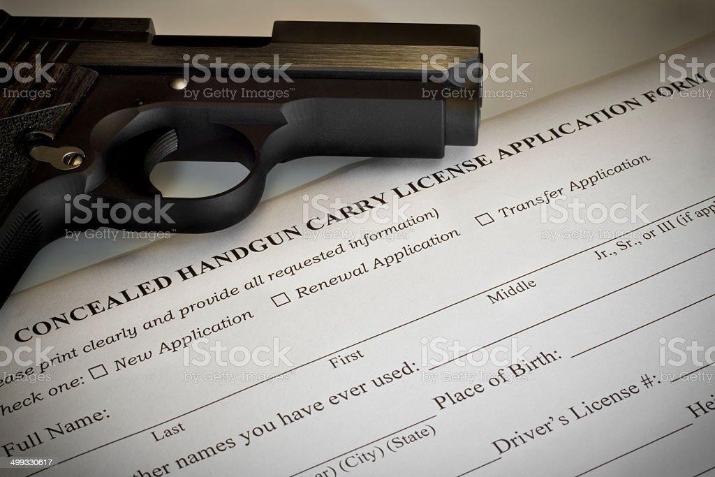Dissimulée Pistolet demande de permis - Photo
