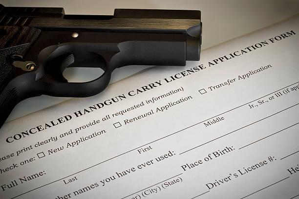 Concealed Handgun Permit Application stock photo