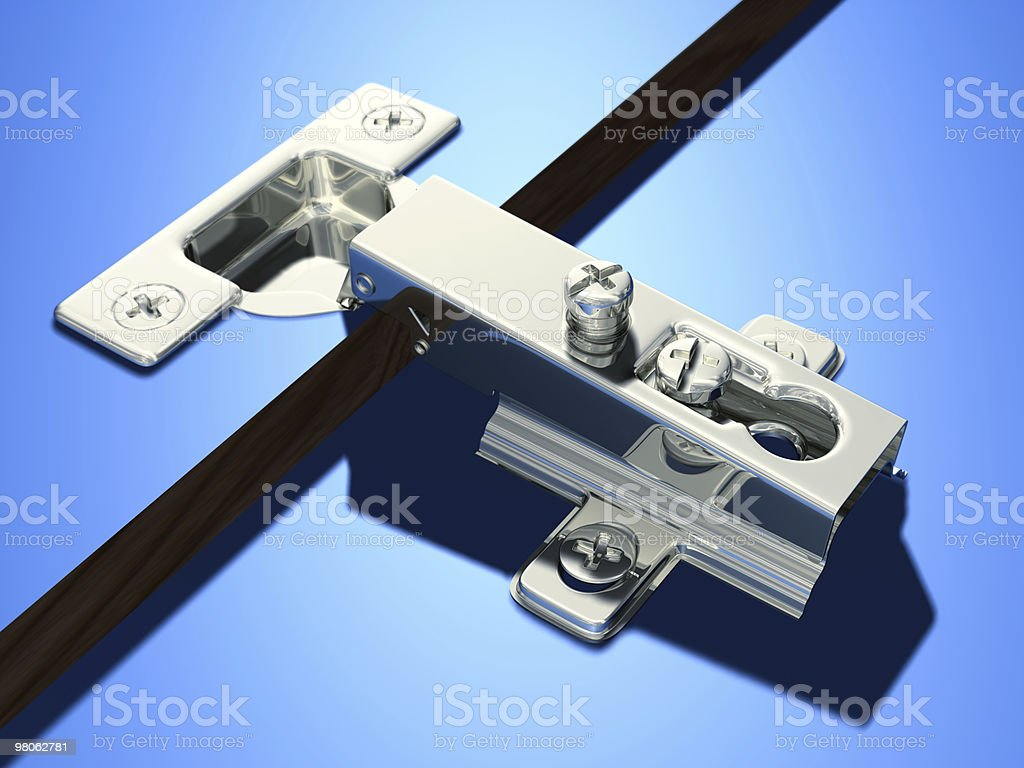 Concealed Hinge royalty-free stock photo