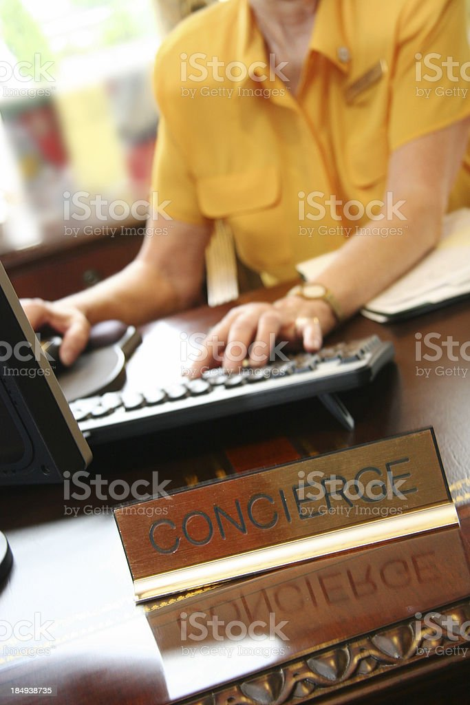 Conceirge Desk royalty-free stock photo