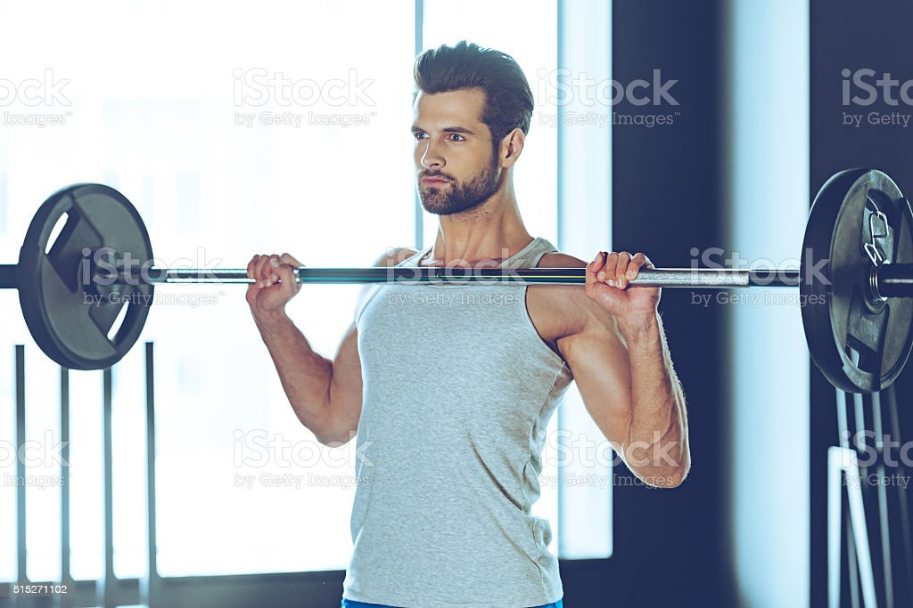 Concentrated and strong. stock photo