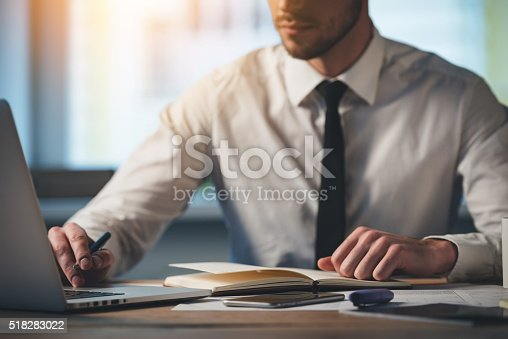 istock Concentrated at work. 518283022