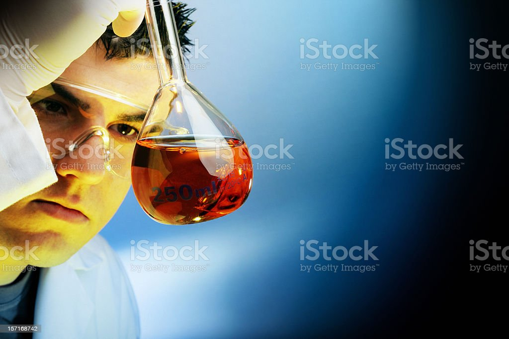 Concentrated chemist I+D royalty-free stock photo