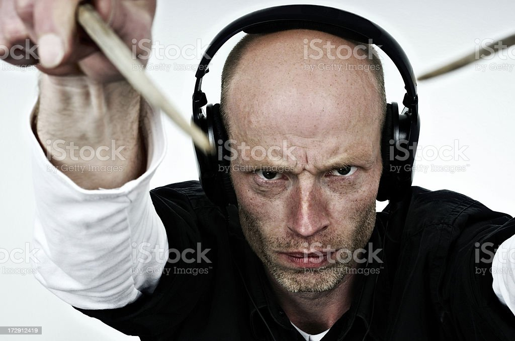concentrated condutor royalty-free stock photo