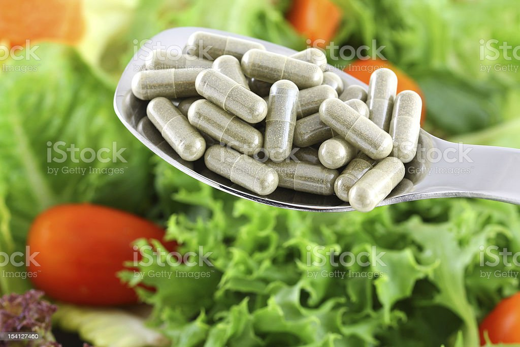 Concentrated Fiber Capsules stock photo