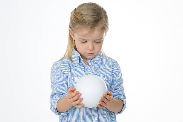 concentrated nice child stock photo