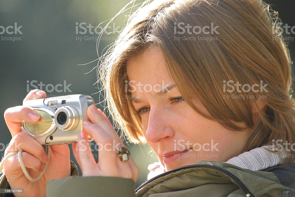 concentrated royalty-free stock photo