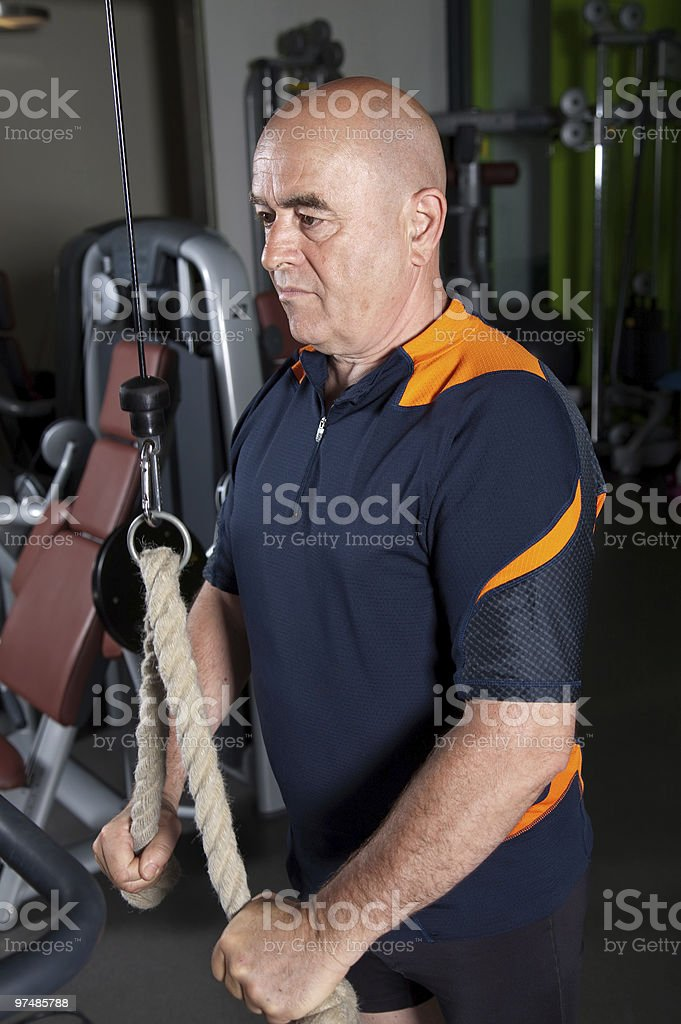 Concentrated senior man royalty-free stock photo