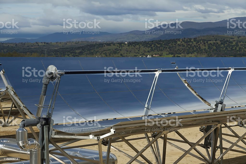 Concentrated Solar Power (CSP) Plant stock photo
