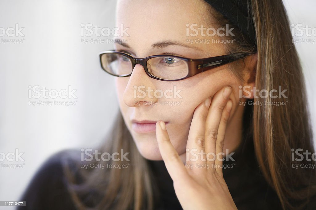 concentrated working royalty-free stock photo